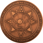 Image of the Dr. Charles H. Townes Supernova Award Medal for the Boy Scouts of America