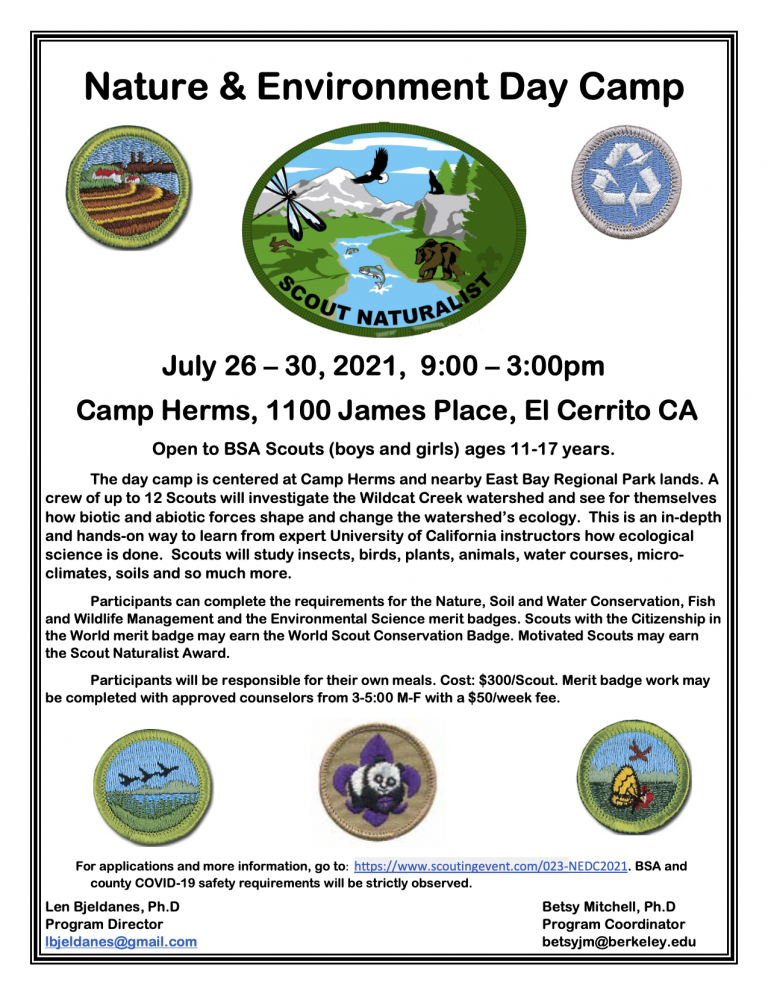 Flyer for 2021 Nature and Environment Day Camp